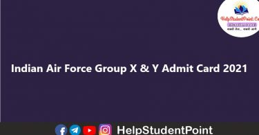 Indian Air Force Group X & Y Admit Card 2021